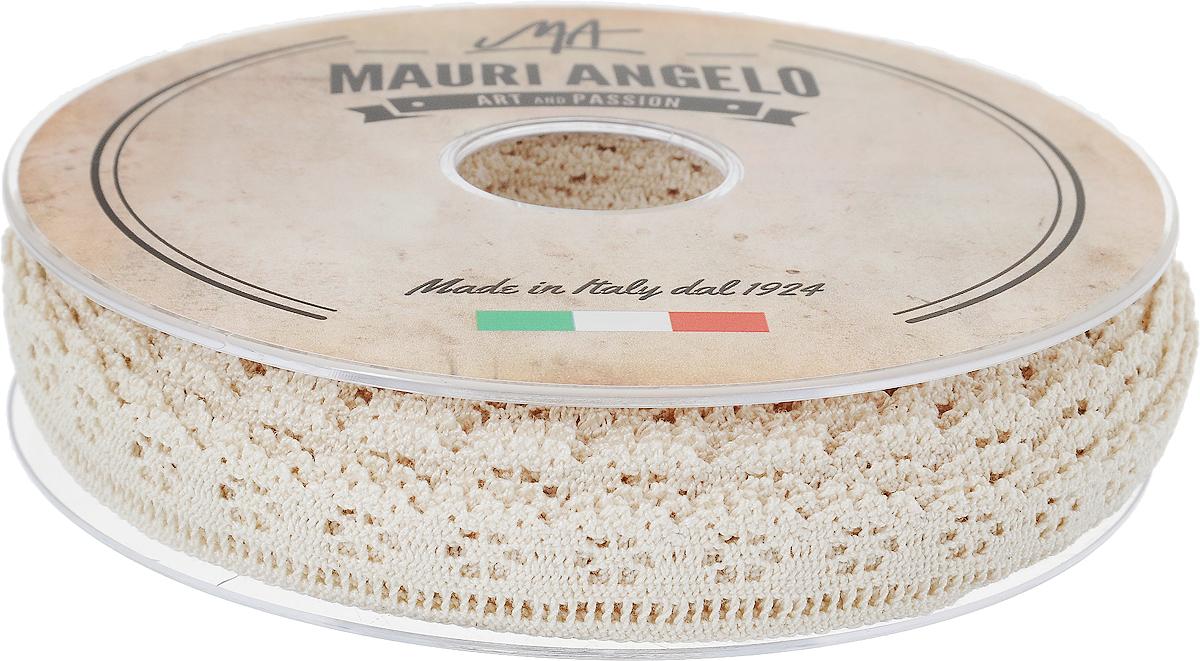 Лента кружевная Mauri Angelo, цвет: бежевый, 1,7 см х 20 мMR1275/EДекоративная кружевная лента Mauri Angelo - текстильное изделие без тканой основы, в котором ажурный орнамент и изображения образуются в результате переплетения нитей. Кружево применяется для отделки одежды, белья в виде окаймления или вставок, а также в оформлении интерьера, декоративных панно, скатертей, тюлей, покрывал. Главные особенности кружева - воздушность, тонкость, эластичность, узорность.Декоративная кружевная лента Mauri Angelo станет незаменимым элементом в создании рукотворного шедевра. Ширина: 1,7 см.Длина: 20 м.