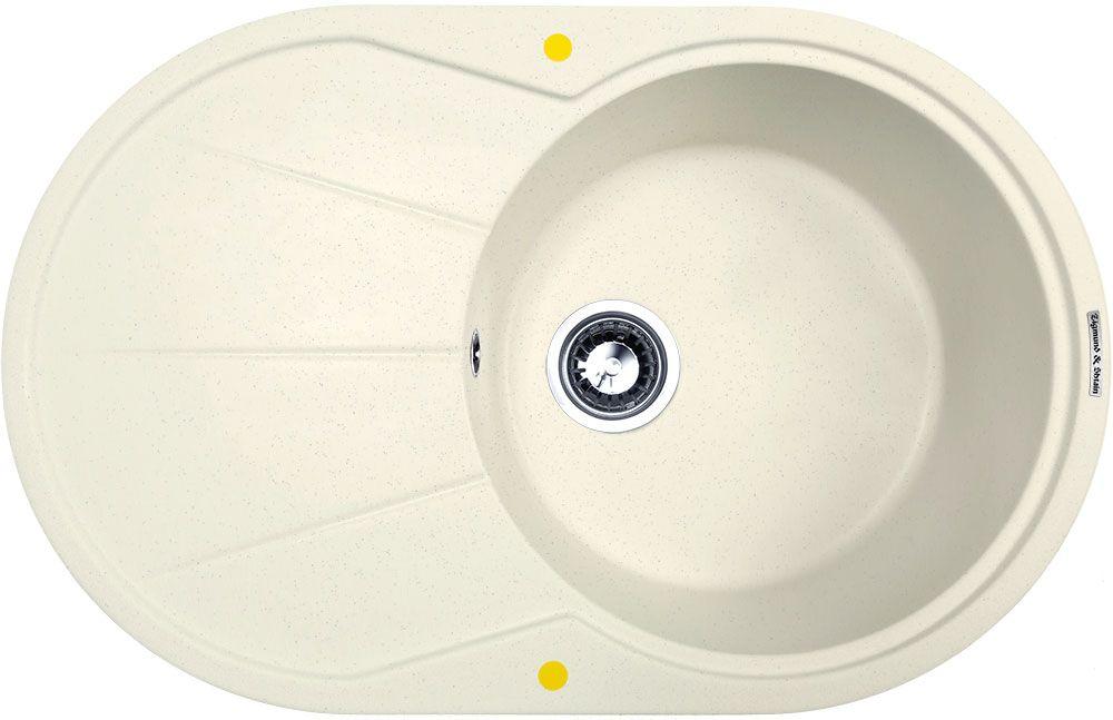 """Раковина – одна из самых главных составляющих кухонного гарнитура. Она необходима для мытья рук или посуды, без нее сложно представить приготовления различных блюд. Но данный элемент кухни должен быть не только стильным внешне, здесь важно качество и надежность, чему полностью соответствуют кухонные мойки Zigmund & Shtain. Изысканное стилистическое оформление, высокая прочность используемого материала, разные цветовые решения – все это характерно для раковин данного немецкого производителя.Функциональное, большое крыло гранитной мойки """"Kreis Ov 770 B"""" позволяет не только размещать на ней большое количество посуды на время сушки, но и оставлять овощи, фрукты или ягоды для предварительного стекания воды. Благодаря своим уникальным свойствам, поверхность гранита не впитывает запахи и не окрашивается от продуктов питания, сохраняя свой первозданный вид. Ещё одним ценным качеством гранита является то, что он не источает токсичные, вредные для человека испарения, такие как стирол, например. Ну и, разумеется, главными преимуществами гранитного сырья можно считать надёжность и долговечность, мойка навсегда сохранит свой первозданный вид и характеристики. Раковина не прихотлива в обслуживании. Для повседневного ухода достаточно протереть мягкой губкой, смоченной средством для мытья посуды, а затем смыть струей воды. А для чистки застарелых и сложных пятен возможно использование химически активных веществ, пригодных для каменных поверхностей."""