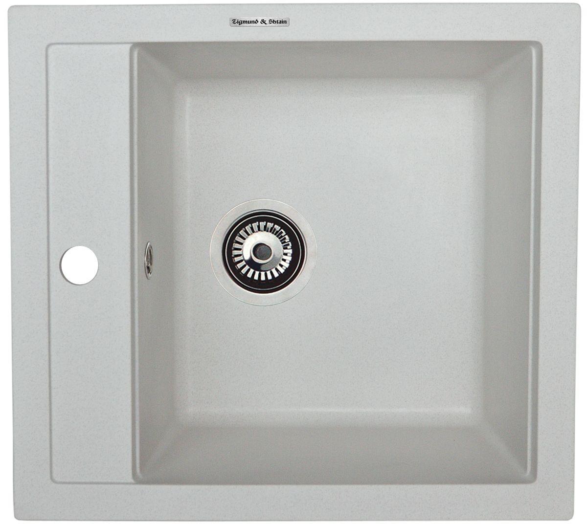 Zigmund & Shtain PLATZ 465, кухонная мойка, иск.гранит, 1чаша, форма-квадрат, глубина -21 см, ЦВЕТ каменная соль