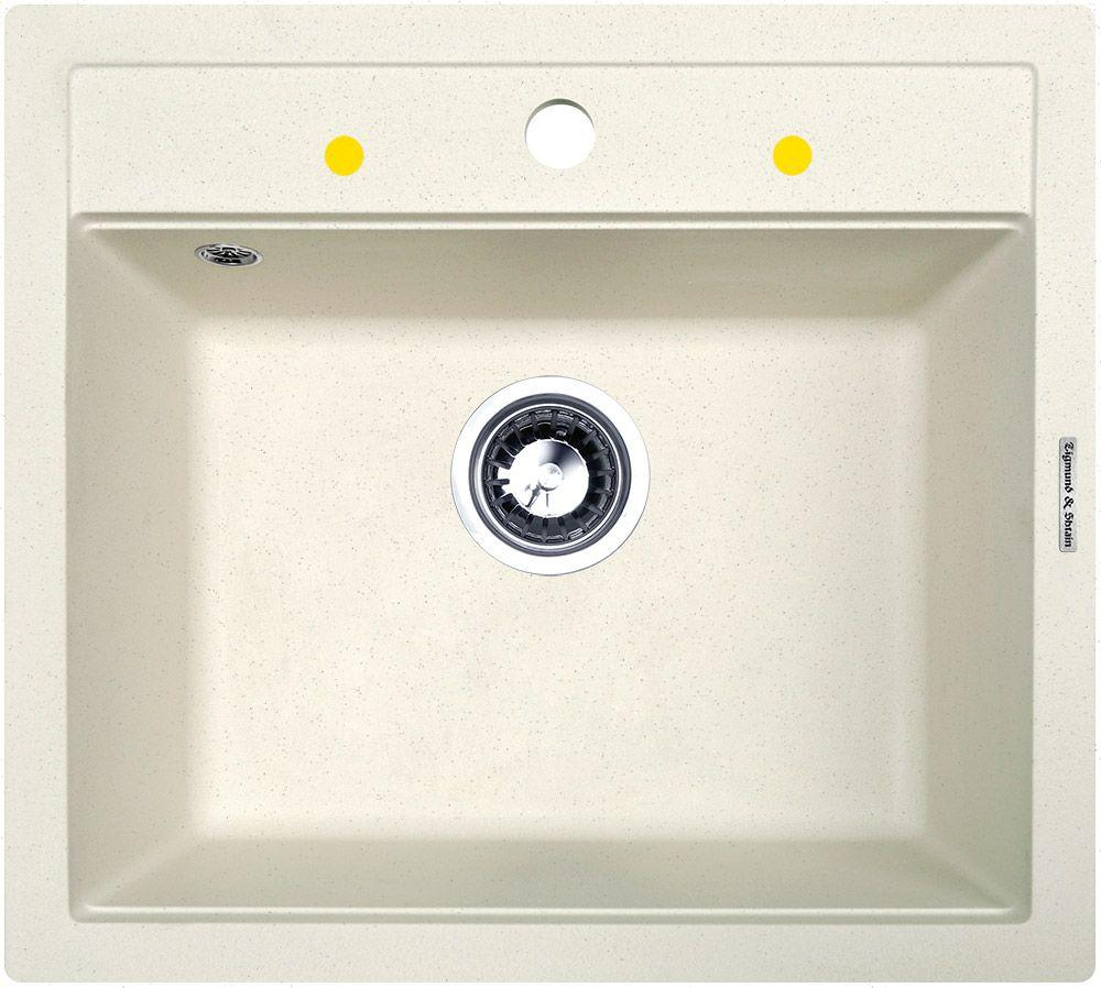 Мойка кухонная Zigmund & Shtain Platz 560, врезная, 1 чаша, цвет: каменная соль кухонная мойка zigmund amp shtain platz 465 топленое молоко