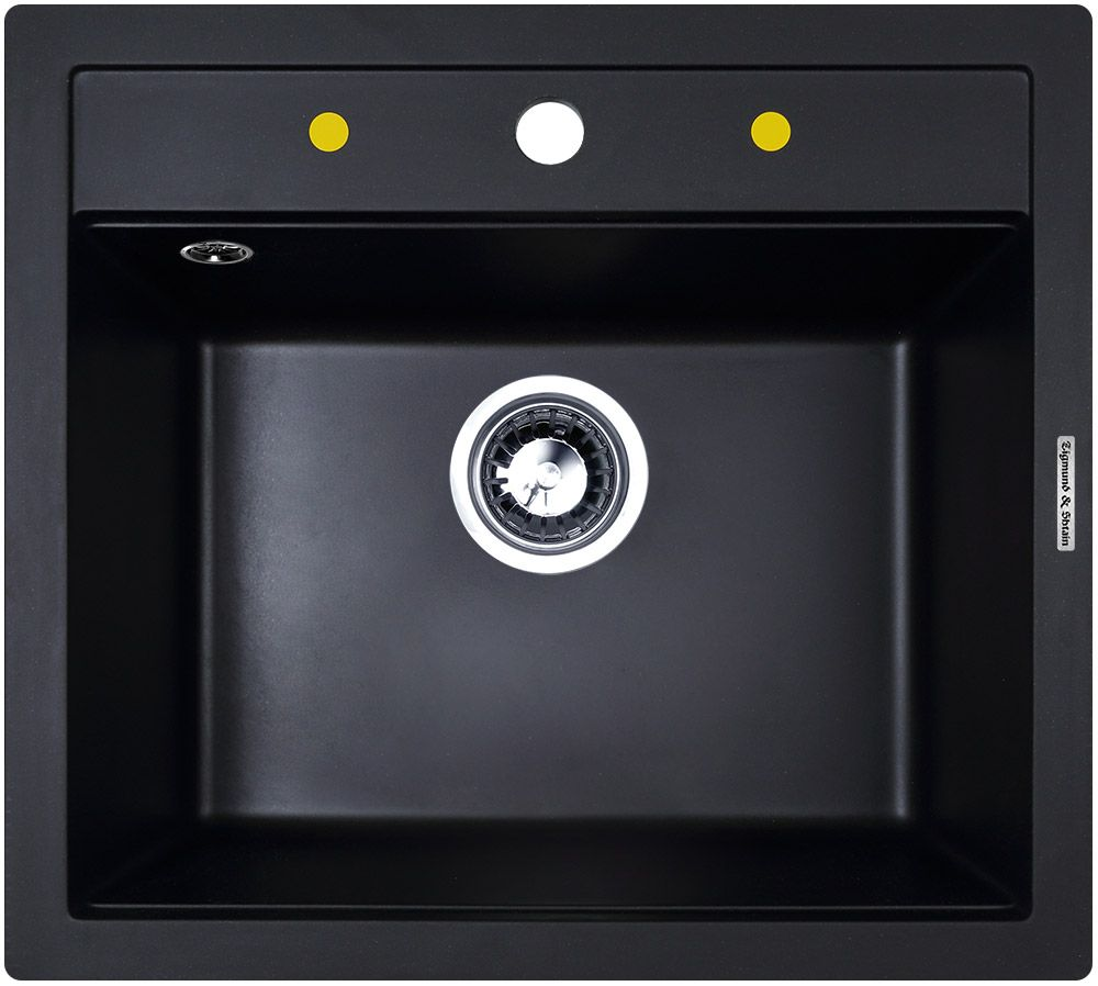 Мойка Zigmund & Shtain Platz 560, врезная, цвет: черный базальт, размер чаши 49,5 x 36 смplatz560PLATZ 560 является ещё одной удачной моделью квадратной гранитной мойки для кухни. Современный функциональный дизайн позволяет ей выглядеть стильно и уместно в интерьере любой кухни. Данная модификация создана для тех, кому необходимо получить не только презентабельный внешний вид, но и глубокую чашу для мытья посуды. Глубокая и вместительная чаша, уложенная в небольшие габариты, прекрасно подойдёт в пользование для небольшой семьи. Глубина раковины составляет 19.5 см, при общем размере мойки 560 х 505 мм - такие характеристики обеспечивают максимальный комфорт при эксплуатации мойки. Конструкция предусматривает удобный бортик сверху раковины, на котором легко поместятся моющие средства, губки или дозатор для моющих средств. Квадратная форма мойки отлично ляжет в разрез выбранной столешницы и удачно впишется в стиль кухни. Глубина чаши - 19,5 смШирина шкафа - 60 смСопротивление давлению - 16 кг/кв. смКрепёжная арматура - в комплектеОтверстие под смеситель - высверлено