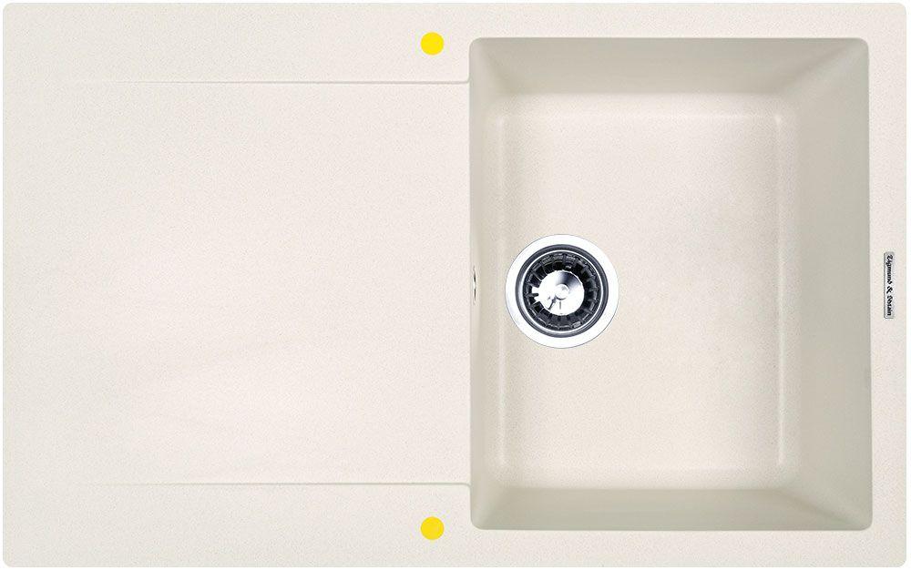 Мойка кухонная Zigmund & Shtain Rechteck 775, врезная, 1 чаша, крыло, цвет: индийская ванильrechteck775Zigmund & Shtain RECHTECK 775, кухонная мойка, иск.гранит, 1чаша-крыло, форма прямоугольная, глубина-21, Цвет индийская ваниль