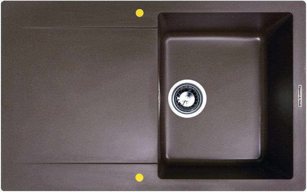 Zigmund & Shtain RECHTECK 775, кухонная мойка, иск.гранит, 1чаша-крыло, форма прямоугольная, глубина-21, Цвет швейцарский шоколад