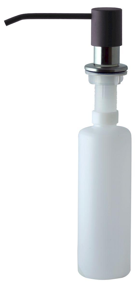 Дозатор для моющего средства Zigmund & Shtain, встраиваемый, цвет: швейцарский шоколад, 300 млa002zs_швейцарский шоколадДиспенсер для моющего средства позволяет с помощью лёгкого нажатия получать необходимое количество жидкости для мытья посуды. Дозатор освобождает пространство столешницы вокруг мойки от бутылочек с моющим средством и делает кухню удобной и красивой. Встраиваемый диспенсер устанавливается в столешницу или кухонную мойку.Корпус емкости под моющее средство и трубка подачи моющего средства выполнены из пластика, что исключает возможность коррозии и разъедания любым моющим средством, применяемым в быту. Диспенсер легко заполняется моющим средством сверху.Объем: 300 мл.Угол поворота: 360°.Диаметр врезного отверстия: 35 мм. Данный диспенсер подходит к кухонной мойке Zigmund & Shtain цвета швейцарский шоколад.