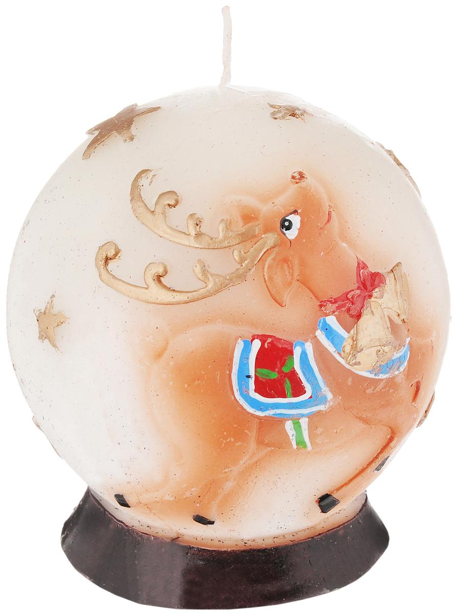 Свеча декоративная House & Holder Олень, высота 10 смZHY12245RLСвеча House & Holder Олень, изготовленная из парафинав виде шара, станет прекрасным украшением интерьерапомещения.Такая свеча создаст атмосферу таинственности изагадочности и наполнит ваш дом волшебством иощущением праздника. Хорошийсувенир для друзей и близких.