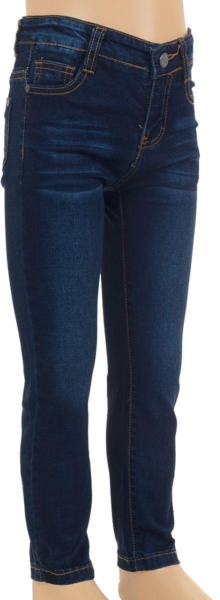 Джинсы для мальчика Nota Bene, цвет: темно-синий. SS161B415-10. Размер 98SS161B415-10Удобные джинсы для мальчика Nota Bene выполнены из хлопка с добавлением эластана. Джинсы застегиваются на пуговицу и застежку-молнию, также имеются шлевки для ремня. Объем пояса регулируется при помощи эластичной резинки с пуговицами изнутри. Спереди модель дополнена двумя втачными карманами и маленьким накладным кармашком, сзади - двумя накладными карманами.
