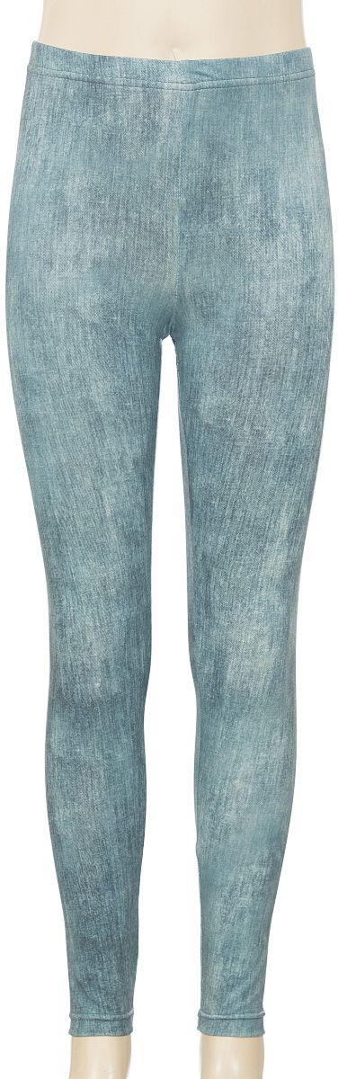 Лосины для девочки M&D, цвет: сине-зеленый. SSL261M20-11. Размер 104 лосины для девочки m&d цвет бирюза мультиколор м33228 размер 116