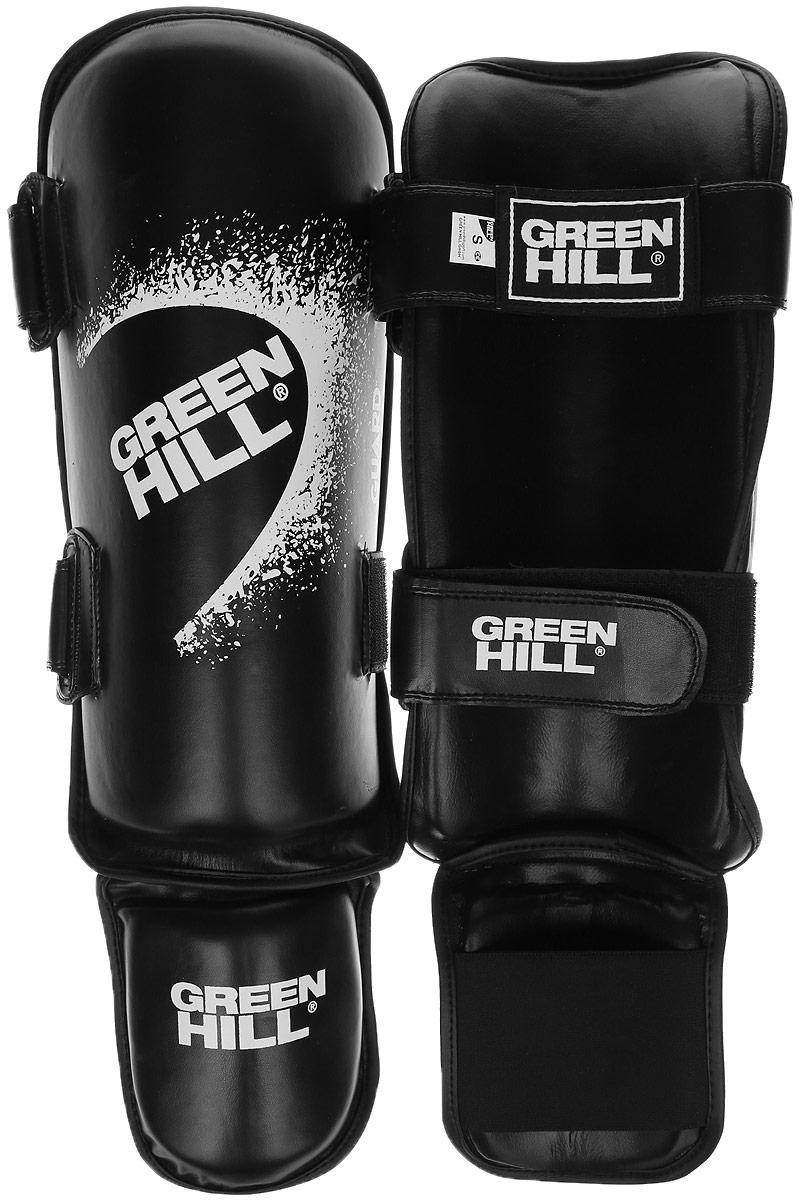 Защита голени и стопы Green Hill Guard, цвет: черный, белый. Размер S. SIG-0012SIG-0012Защита голени и стопы Green Hill Guard с наполнителем, выполненным из вспененного полимера, необходима при занятиях спортом для защиты пальцев и суставов от вывихов, ушибов и прочих повреждений. Накладки выполнены из высококачественной искусственной кожи. Они прочно фиксируются за счет эластичной ленты и липучек.Удобные и эргономичные накладки Green Hill Guard идеально подойдут для занятий тхэквондо и другими видами единоборств.Длина голени: 33 см.Ширина голени: 14,5 см.Длина стопы: 13 см.Ширина стопы: 11,5 см.