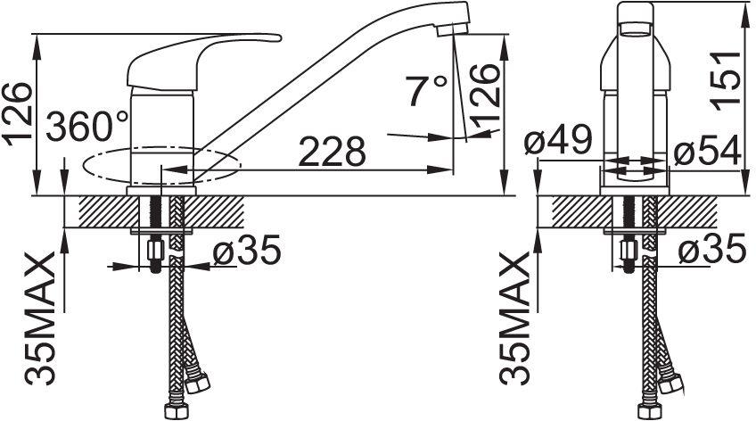 """Смеситель для кухни Iddis """"Alborg"""" изготовлен из высококачественной первичной латуни, прочной, безопасной и стойкой к коррозии. Инновационные технологии литья и обработки латуни, а также увеличенная толщина стенок смесителя обеспечивают его стойкость к перепадам давления и температур.  Увеличенное никель-хромовое покрытие полностью соответствует европейским стандартам качества, обеспечивает его стойкость и зеркальный блеск в течение всего срока службы изделия.  Благодаря гладкой внутренней поверхности смесителя, рассекателям в водозапорных механизмах и аэратору он имеет минимальный уровень шума. В комплекте: гибкая подводка, крепеж, пластиковая проставка для надежной фиксации смесителя на мойке. Особенность: покрытие Granucryl, повторяющим цвета моек Granucryl от Iddis. Гарантия на смесители Iddis - 10 лет."""