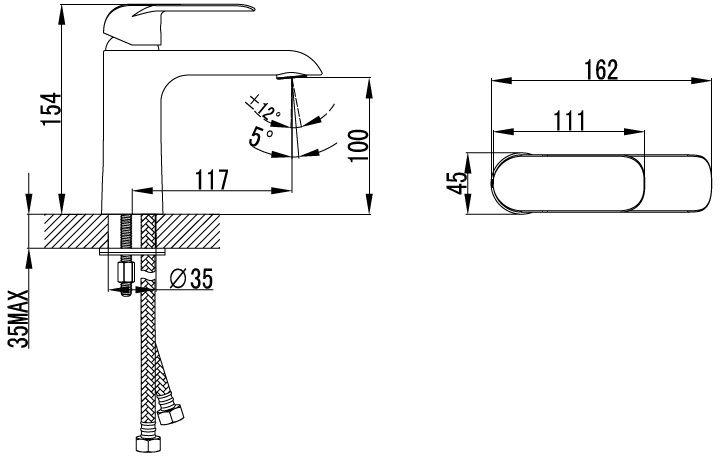"""Смеситель для умывальника Iddis """"Calipso"""" изготовлен из высококачественной первичной латуни, прочной, безопасной и стойкой к коррозии. Инновационные технологии литья и обработки латуни, а также увеличенная толщина стенок смесителя обеспечивают его стойкость к перепадам давления и температур.  Увеличенное никель-хромовое покрытие полностью соответствует европейским стандартам качества, обеспечивает его стойкость и зеркальный блеск в течение всего срока службы изделия.  Благодаря гладкой внутренней поверхности смесителя, рассекателям в водозапорных механизмах и аэратору он имеет минимальный уровень шума. Картридж Softap обеспечивает особую плавность хода ручки смесителя - для точной регулировки температуры и напора воды. Специальная подвижная сетка аэратора позволяет направить поток под нужным углом одним движением пальца. Встроенный ограничитель потока оптимизирует расход воды без потери комфорта при использовании. В комплекте: гибкая подводка (35 см), крепеж. Гарантия на смесители Iddis """"Calipso"""" - 10 лет."""