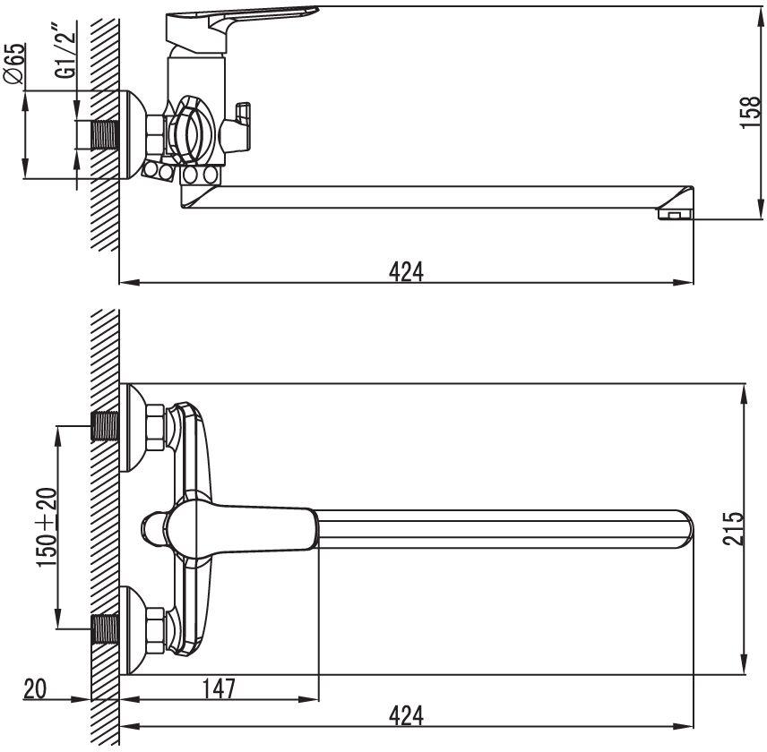 """Смеситель для ванны Iddis """"District"""" изготовлен из высококачественной первичной латуни, прочной, безопасной и стойкой к коррозии. Инновационные технологии литья и обработки латуни, а также увеличенная толщина стенок смесителя обеспечивают его стойкость к перепадам давления и температур.  Увеличенное никель-хромовое покрытие полностью соответствует европейским стандартам качества, обеспечивает его стойкость и зеркальный блеск в течение всего срока службы изделия.  Благодаря гладкой внутренней поверхности смесителя, рассекателям в водозапорных механизмах и аэратору он имеет минимальный уровень шума. Смеситель оборудован керамическим дивертором, чей сверхнадежный механизм обеспечивает плавное и мягкое переключение с излива на душ, а также непревзойденную надежность при любом давлении воды. Картридж Softap обеспечивает особую плавность хода ручки смесителя - для точной регулировки температуры и напора воды. Съемный пластиковый аэратор Neoperl гарантирует ровный и мягкий поток воды без брызг. Встроенный ограничитель потока оптимизирует расход воды без потери комфорта при использовании. Длина излива: 400 мм. В комплекте: лейка (3 режима) и шланг из нержавеющей стали длиной 1,5 м с защитой от перекручивания.  Гарантия на смесители Iddis - 10 лет."""