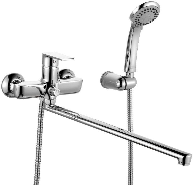 Смеситель для ванны Iddis Edifice,  длинным изливом,  керамическим дивертором, цвет: хром