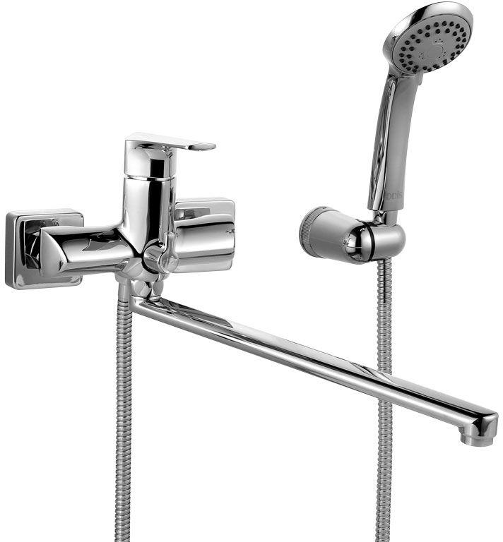 Смеситель для ванны Iddis Harizma,  длинным изливом,  керамическим дивертором, цвет: хром