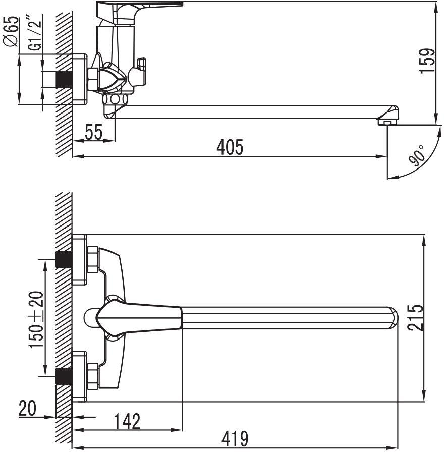 """Смеситель для ванны Iddis """"Harizma"""" изготовлен из высококачественной первичной латуни, прочной, безопасной и стойкой к коррозии. Инновационные технологии литья и обработки латуни, а также увеличенная толщина стенок смесителя обеспечивают его стойкость к перепадам давления и температур.  Увеличенное никель-хромовое покрытие полностью соответствует европейским стандартам качества, обеспечивает его стойкость и зеркальный блеск в течение всего срока службы изделия.  Благодаря гладкой внутренней поверхности смесителя, рассекателям в водозапорных механизмах и аэратору он имеет минимальный уровень шума. Смеситель оборудован керамическим дивертором, чей сверхнадежный механизм обеспечивает плавное и мягкое переключение с излива на душ, а также непревзойденную надежность при любом давлении воды. Смеситель оборудован картриджем Kerox со специальной встроенной системой шумопоглощения, который обеспечивает долгий срок службы смесителя. Съемный пластиковый аэратор Neoperl гарантирует ровный и мягкий поток воды без брызг. Встроенный ограничитель потока оптимизирует расход воды без потери комфорта при использовании. Длина излив: 350 мм. В комплекте: лейка (3 режима) и шланг из нержавеющей стали длиной 1,5 м с защитой от перекручивания.  Гарантия на смесители Iddis - 10 лет."""