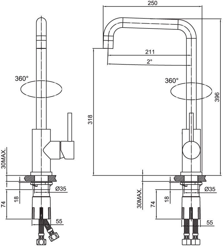 """Смеситель для кухни Iddis """"Kitchen"""" изготовлен из высококачественной первичной латуни, прочной, безопасной и стойкой к коррозии. Инновационные технологии литья и обработки латуни, а также увеличенная толщина стенок смесителя обеспечивают его стойкость к перепадам давления и температур. Увеличенное никель-хромовое покрытие полностью соответствует европейским стандартам качества, обеспечивает его стойкость и зеркальный блеск в течение всего срока службы изделия. Благодаря гладкой внутренней поверхности смесителя, рассекателям в водозапорных механизмах и аэратору он имеет минимальный уровень шума.Надежный картридж Sedal обеспечивает увеличенный срок службы смесителя.Съемный пластиковый аэратор Neoperl гарантирует ровный и мягкий поток воды без брызг. Встроенный ограничитель потока оптимизирует расход воды без потери комфорта при использовании. Гарантия на смесители Iddis """"Kitchen"""" - 10 лет."""