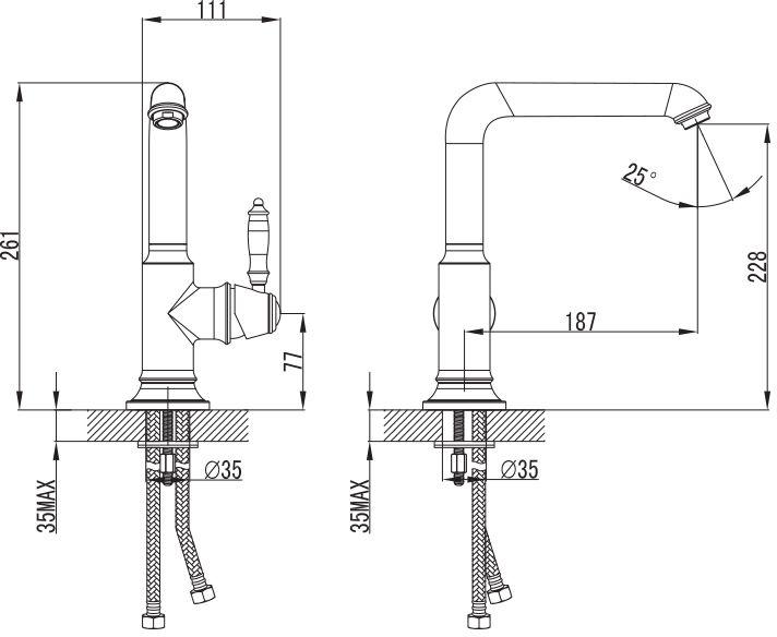 """Смеситель для кухни Iddis """"Loft"""" изготовлен из высококачественной первичной латуни, прочной, безопасной и стойкой к коррозии. Инновационные технологии литья и обработки латуни, а также увеличенная толщина стенок смесителя обеспечивают его стойкость к перепадам давления и температур. Увеличенное никель-хромовое покрытие полностью соответствует европейским стандартам качества, обеспечивает его стойкость и зеркальный блеск в течение всего срока службы изделия. Благодаря гладкой внутренней поверхности смесителя, рассекателям в водозапорных механизмах и аэратору он имеет минимальный уровень шума.Надежный картридж Sedal обеспечивает увеличенный срок службы смесителя.Съемный пластиковый аэратор Neoperl гарантирует ровный и мягкий поток воды без брызг. Встроенный ограничитель потока оптимизирует расход воды без потери комфорта при использовании.В комплекте: подводка, крепёж, пластиковая проставка. Гарантия на смесители Iddis - 10 лет."""