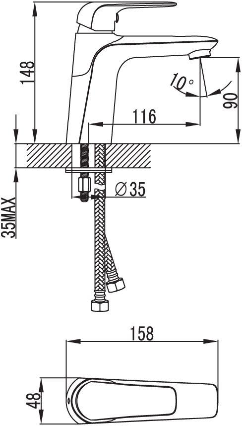 """Смеситель для умывальника Iddis """"Pond"""" изготовлен из высококачественной первичной латуни, прочной, безопасной и стойкой к коррозии. Инновационные технологии литья и обработки латуни, а также увеличенная толщина стенок смесителя обеспечивают его стойкость к перепадам давления и температур. Увеличенное никель-хромовое покрытие полностью соответствует европейским стандартам качества, обеспечивает его стойкость и зеркальный блеск в течение всего срока службы изделия. Благодаря гладкой внутренней поверхности смесителя, рассекателям в водозапорных механизмах и аэратору он имеет минимальный уровень шума.Картридж Softap обеспечивает особую плавность хода ручки смесителя - для точной регулировки температуры и напора воды.Аэратор легко извлекается из смесителя с помощью монетки, упрощая его очистку. Встроенный ограничитель потока оптимизирует расход воды без потери комфорта при использовании.В комплекте: гибкая подводка (35 см), крепеж. Гарантия на смесители Iddis - 10 лет."""