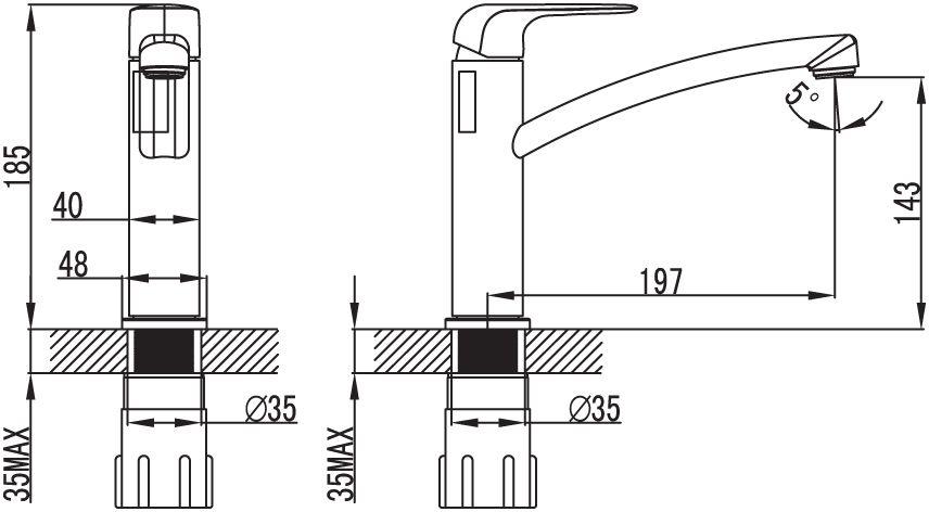 """Смеситель для кухни Iddis """"Pond"""" изготовлен из высококачественной первичной латуни, прочной, безопасной и стойкой к коррозии. Инновационные технологии литья и обработки латуни, а также увеличенная толщина стенок смесителя обеспечивают его стойкость к перепадам давления и температур. Увеличенное никель-хромовое покрытие полностью соответствует европейским стандартам качества, обеспечивает его стойкость и зеркальный блеск в течение всего срока службы изделия. Благодаря гладкой внутренней поверхности смесителя, рассекателям в водозапорных механизмах и аэратору он имеет минимальный уровень шума.Картридж Softap обеспечивает особую плавность хода ручки смесителя - для точной регулировки температуры и напора воды.Съемный пластиковый аэратор Neoperl гарантирует ровный и мягкий поток воды без брызг. Встроенный ограничитель потока оптимизирует расход воды без потери комфорта при использовании.В комплекте: гибкая подводка, крепёж.  Гарантия на смесители Iddis """"Pond"""" - 10 лет."""