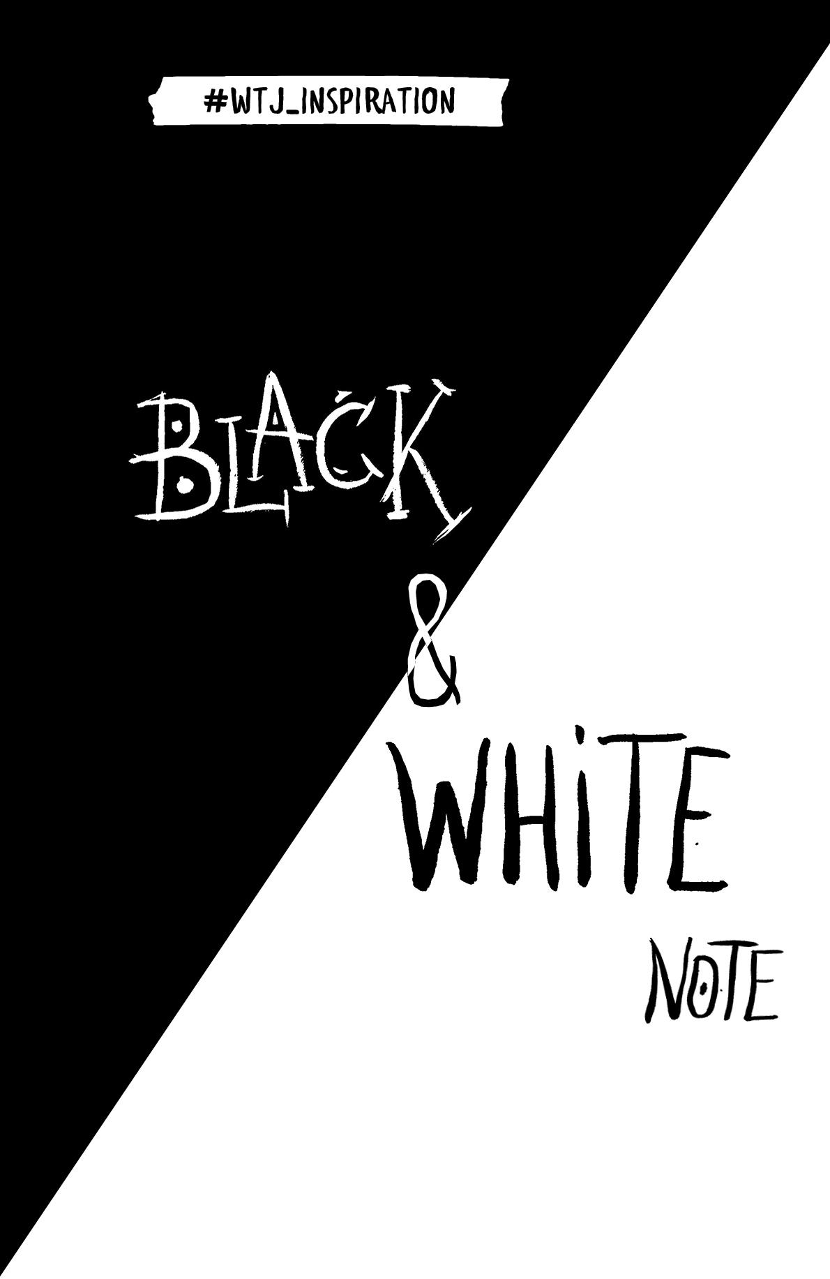 Black&White Note. Стильный блокнот с черными и белоснежными страницами (мягкая обложка)
