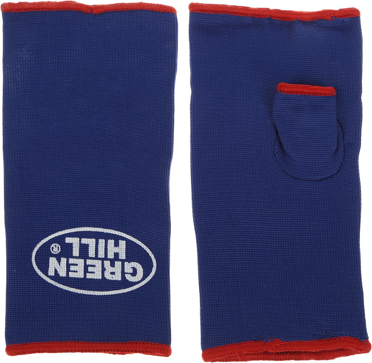Защита на кисть медицинская Green Hill, с пальцем, цвет: синий, красный. Размер L. IG-0055
