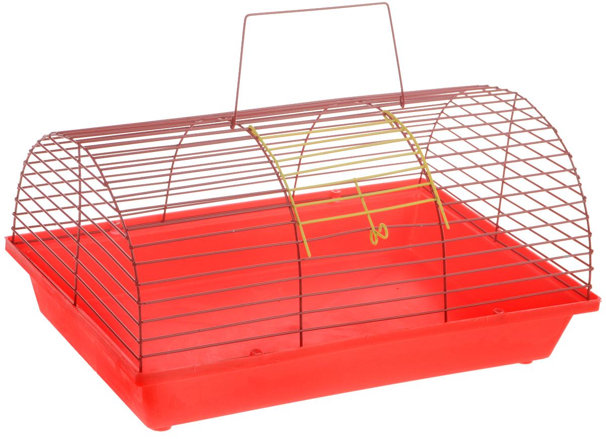 Клетка для грызунов ЗооМарк, цвет: красный поддон, красная решетка, 36 х 23 х 17,5 см(80)КККлетка ЗооМарк, выполненная из полипропилена иметалла, подходит для мелких грызунов. Она имеетяркий поддон, удобна в использовании и легко чистится.Сверху имеется ручка для переноски.Такая клетка станет уединенным личным пространствоми уютным домиком для маленького грызуна.