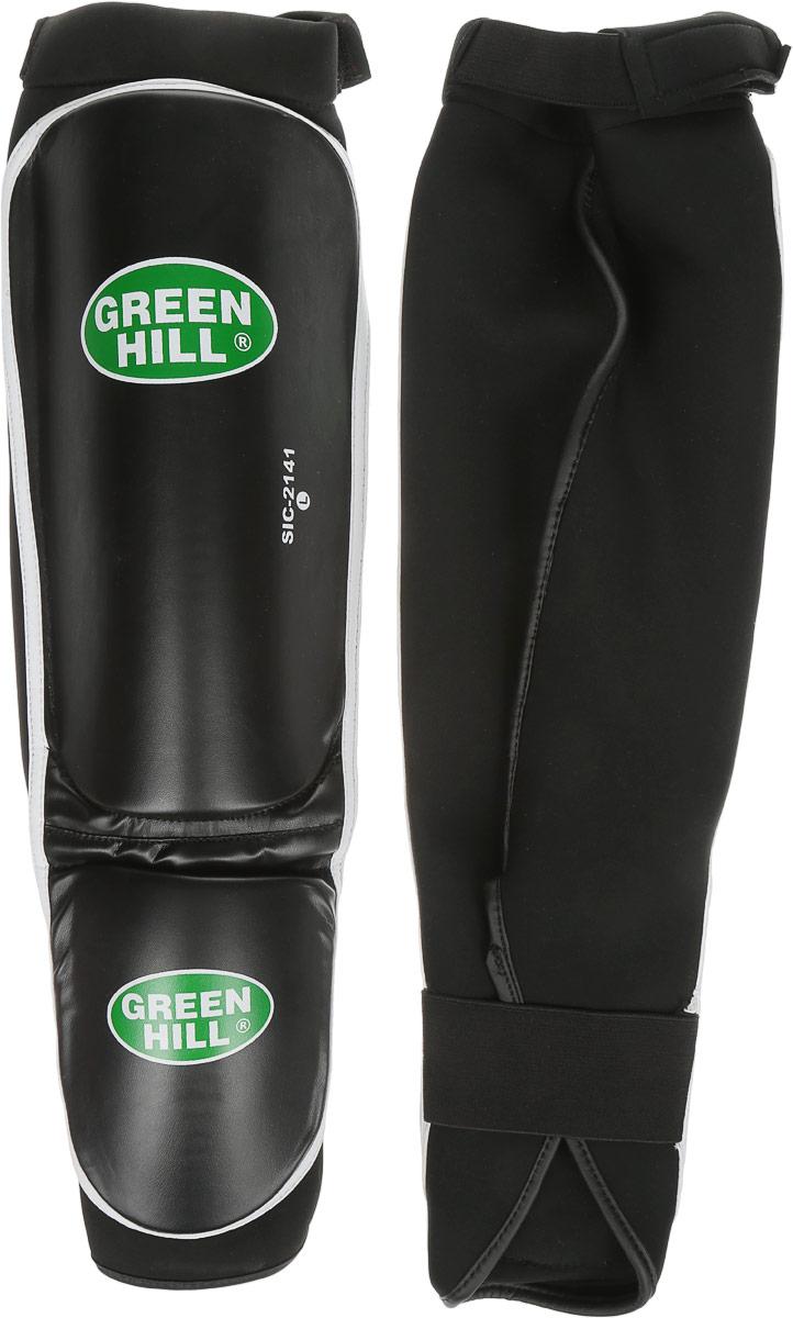 Защита голени и стопы Green Hill Cover, цвет: черный, белый. Размер L. SIС-2141