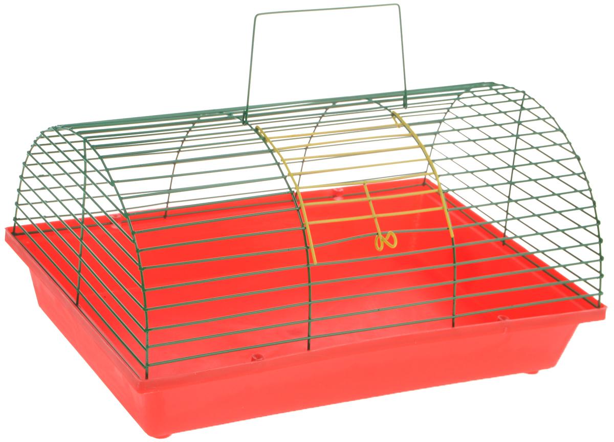 Клетка для грызунов ЗооМарк, цвет: красный поддон, зеленая решетка, 36 х 23 х 17,5 см(80)КЗКлетка ЗооМарк, выполненная из полипропилена иметалла, подходит для мелких грызунов. Она имеетяркий поддон, удобна в использовании и легко чистится.Сверху имеется ручка для переноски.Такая клетка станет уединенным личным пространствоми уютным домиком для маленького грызуна.