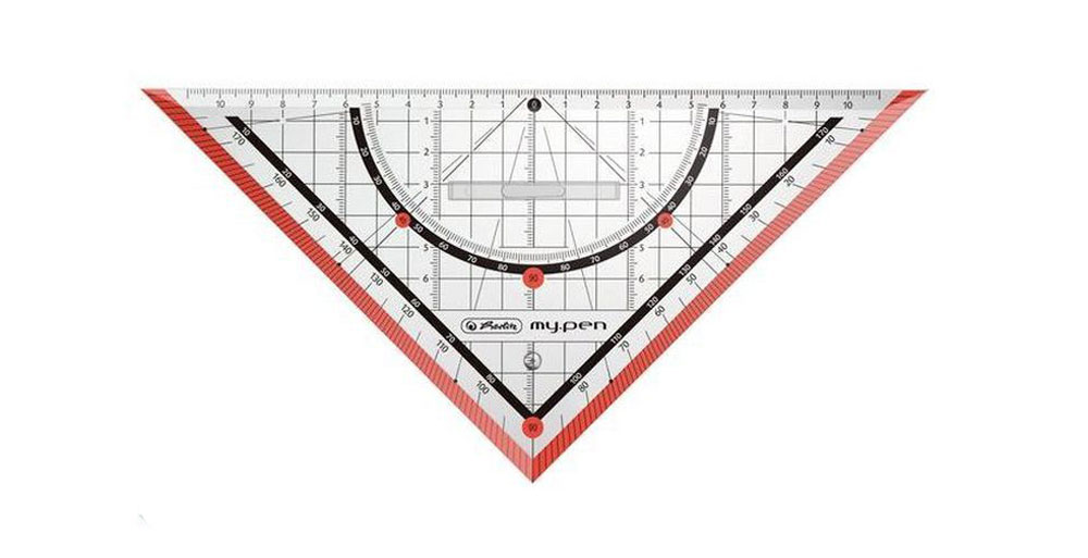 Herlitz Треугольник My Pen со съемным держателем цвет красный 25 см школьные пеналы herlitz