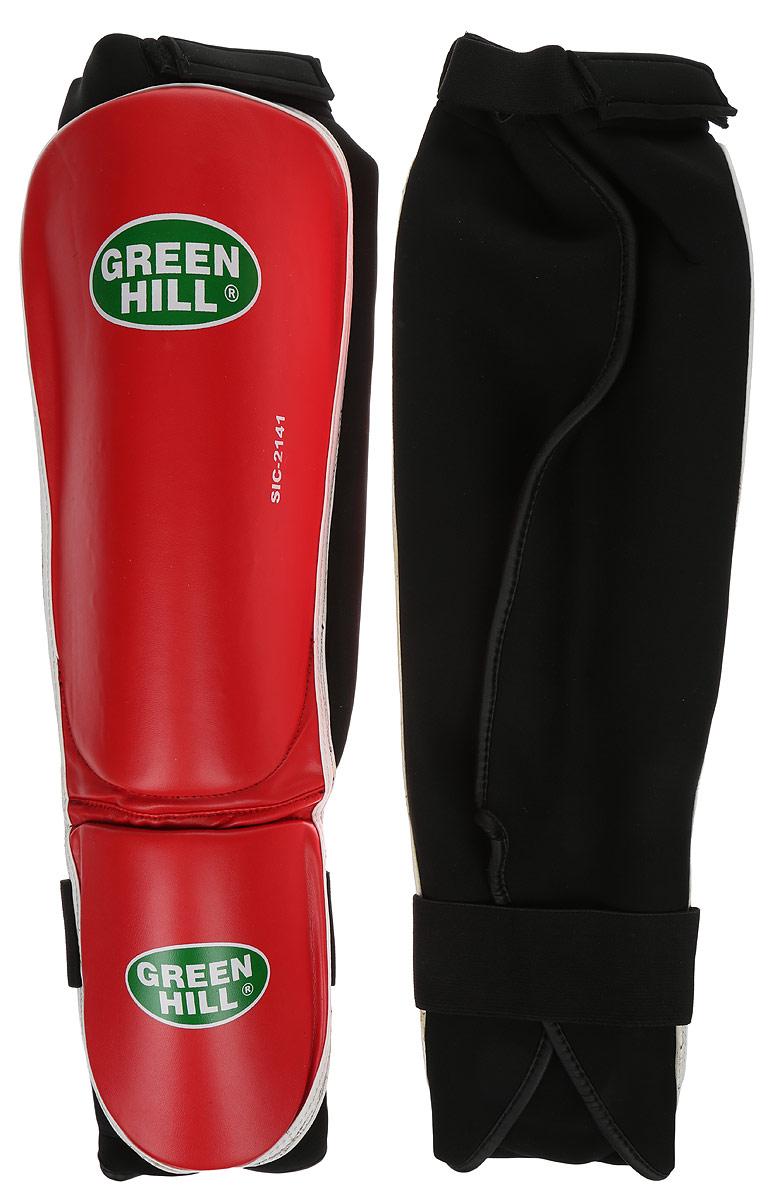 Защита голени и стопы Green Hill Cover, цвет: красный, белый. Размер S. SIС-2141SIС-2141Защита голени и стопы Green Hill Cover с наполнителем, выполненным из полипропилена, необходима при занятиях спортом для защиты пальцев и суставов от вывихов, ушибов и прочих повреждений. Накладки выполнены из высококачественной искусственной кожи. Они прочно фиксируются за счет эластичной ленты и липучек.Длина голени: 27 см.Ширина голени: 15 см.Длина стопы: 14 см.Ширина стопы: 11,5 см.