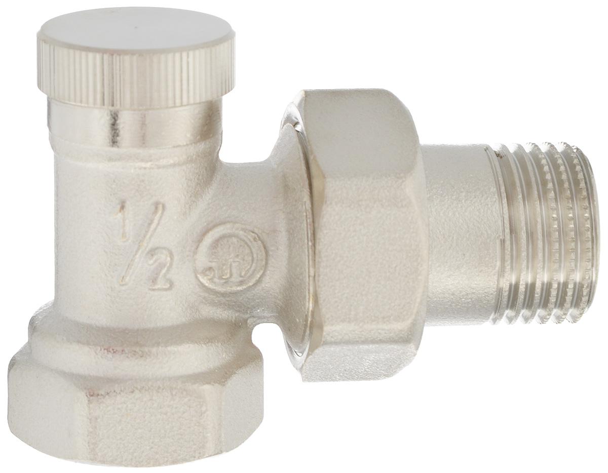Клапан радиаторный Fornara отсекающий, боковое подключение, 1/214437Клапан Fornara -это ручной радиаторный клапан, устанавливаемый на подаче радиаторов или теплообменников в системах водяного отопления.Предназначен для ручной регулировки количества поступающего в отопительный прибор теплоносителя. Клапан позволяет полностью перекрывать поток. Подключение клапана к отопительному прибору производится с помощью закладной детали и полусгона.