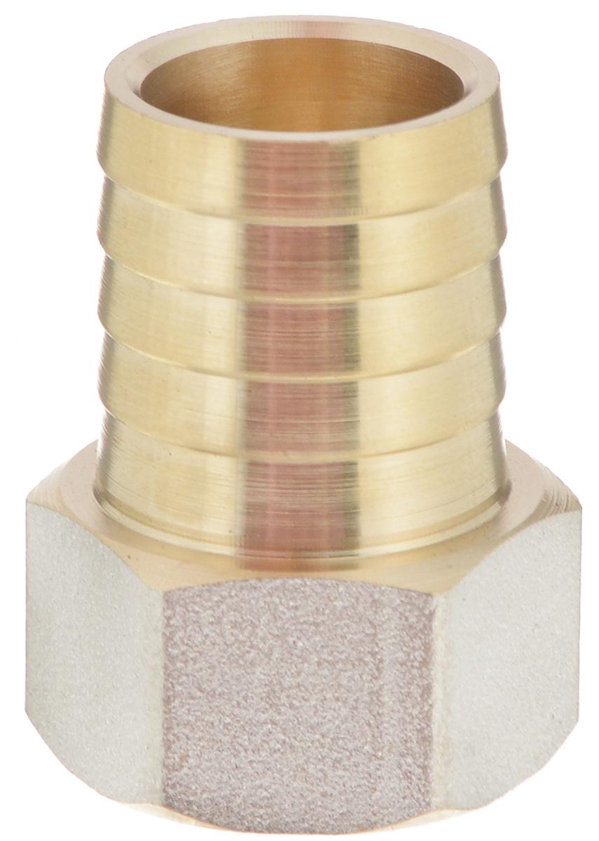 """Переходник """"U-Tec"""" предназначен для соединения резьбовых соединений с резиновым шлангом. Изделие изготовлено из прочной и долговечной латуни. Никелированное покрытие на внешнем корпусе защищает изделие от окисления. Продукция под торговой маркой """"U-Tec"""" прошла все необходимые испытания и по праву может считаться надежной.Размер ключа: 24 мм."""
