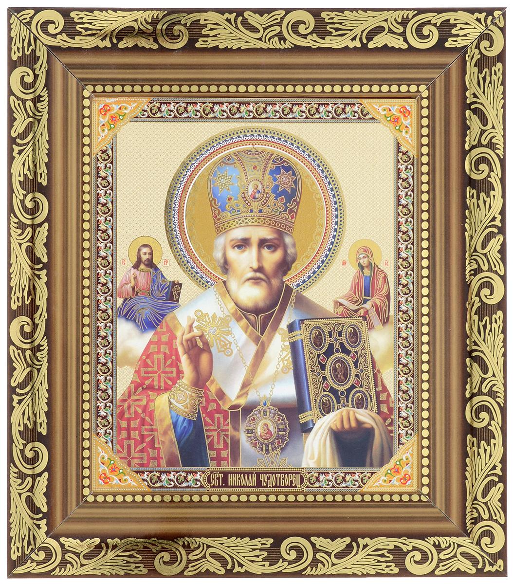 Икона Proffi Святой Николай Чудотворец, 14 х 17 см икона галерея благолепия икона святой николай чудотворец 3 юл 09