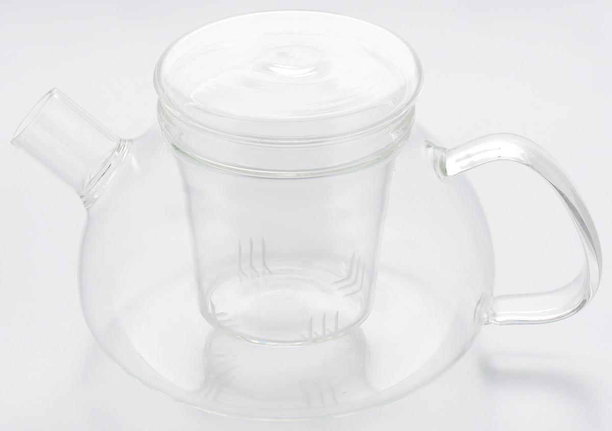 """Заварочный чайник Hunan Provincial """"Киото"""" изготовлен из стекла. Пить чай из такого чайника сплошное удовольствие! Полностью прозрачная форма позволяет любоваться цветом своего любимого напитка. Устойчивая основа, широкий носик, удобная ручка - все выполнено идеально для достижения полного комфорта в использовании. Внутреннее сито выполнено на 100% из стекла и имеет прорези для чайного настоя. После того, как чай заварился, колбу лучше всего достать из чайника, для того чтобы чайный лист не перезаваривался. Диаметр чайника (по верхнему краю): 7,5 см.  Высота чайника (без учета крышки): 7,5 см.  Высота чайника (с учетом крышки): 9,5 см. Высота фильтра: 8 см."""