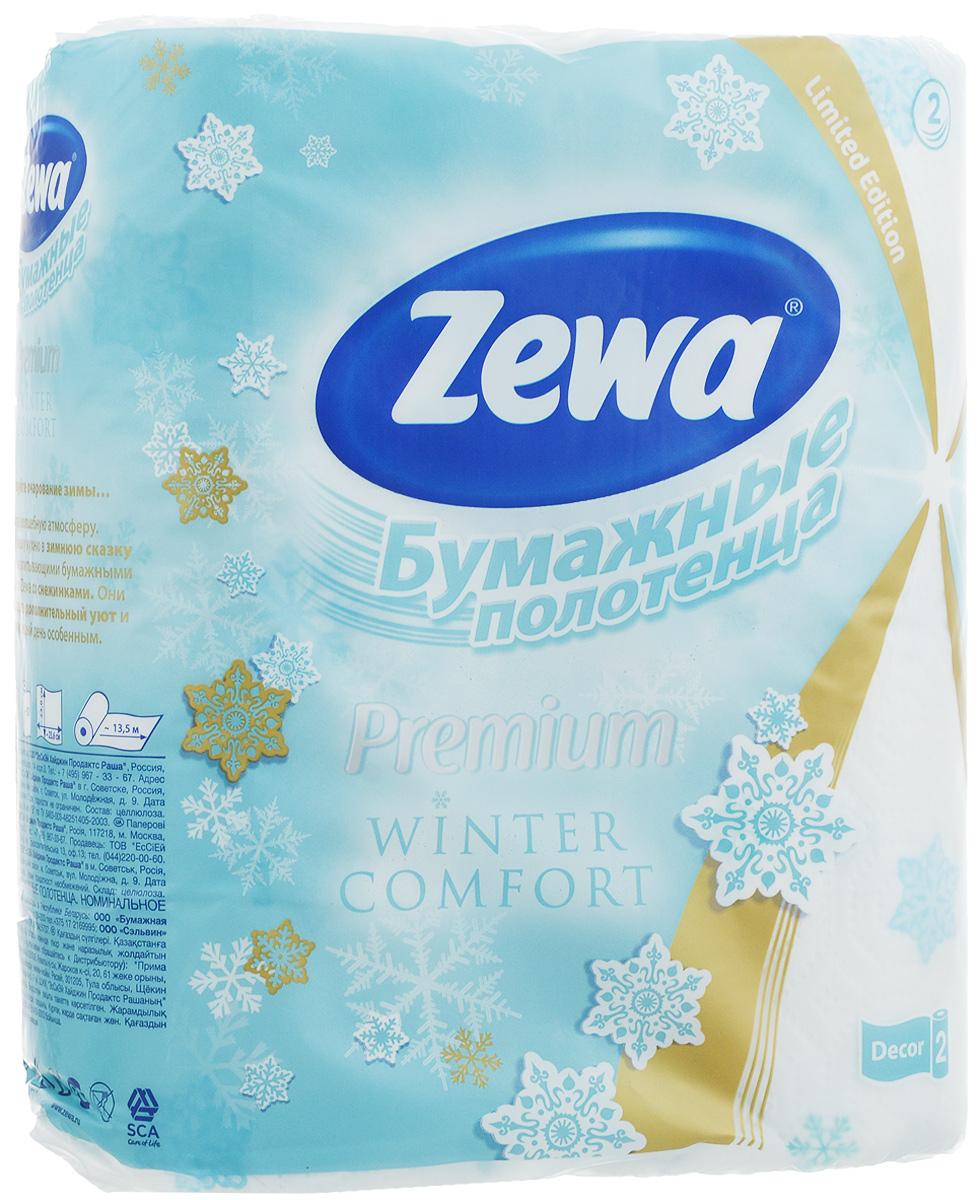 Полотенца бумажные Zewa Premium, двухслойные, 2 рулона6369_WINTER COMFORTБумажные полотенца Zewa Premium созданы из натурального сырья - 100% целлюлозы. Высочайшее качество материала обеспечивает отличную впитываемость.Полотенца оформлены тиснением. Идеально подходят для ежедневного использования. Количество листов в рулоне: 57 шт.Длина рулона: 13,5 м.Количество слоев: 2.Размер листа: 23 х 23,6 см.