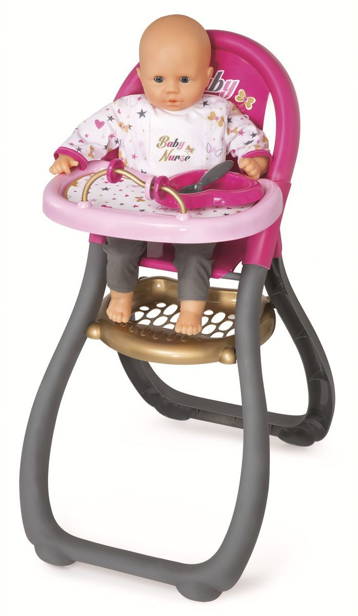 Smoby Мебель для кукол Стульчик для кормления Ваby Nurse smoby zombie zity 6 см в ассорт