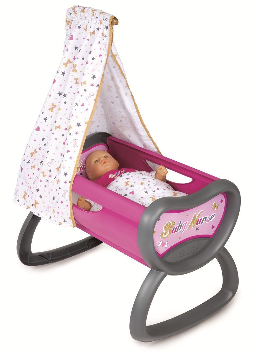 Smoby Мебель для кукол Колыбель Baby Nurse колыбель для куклы с аксессуарами белая для мини кукол