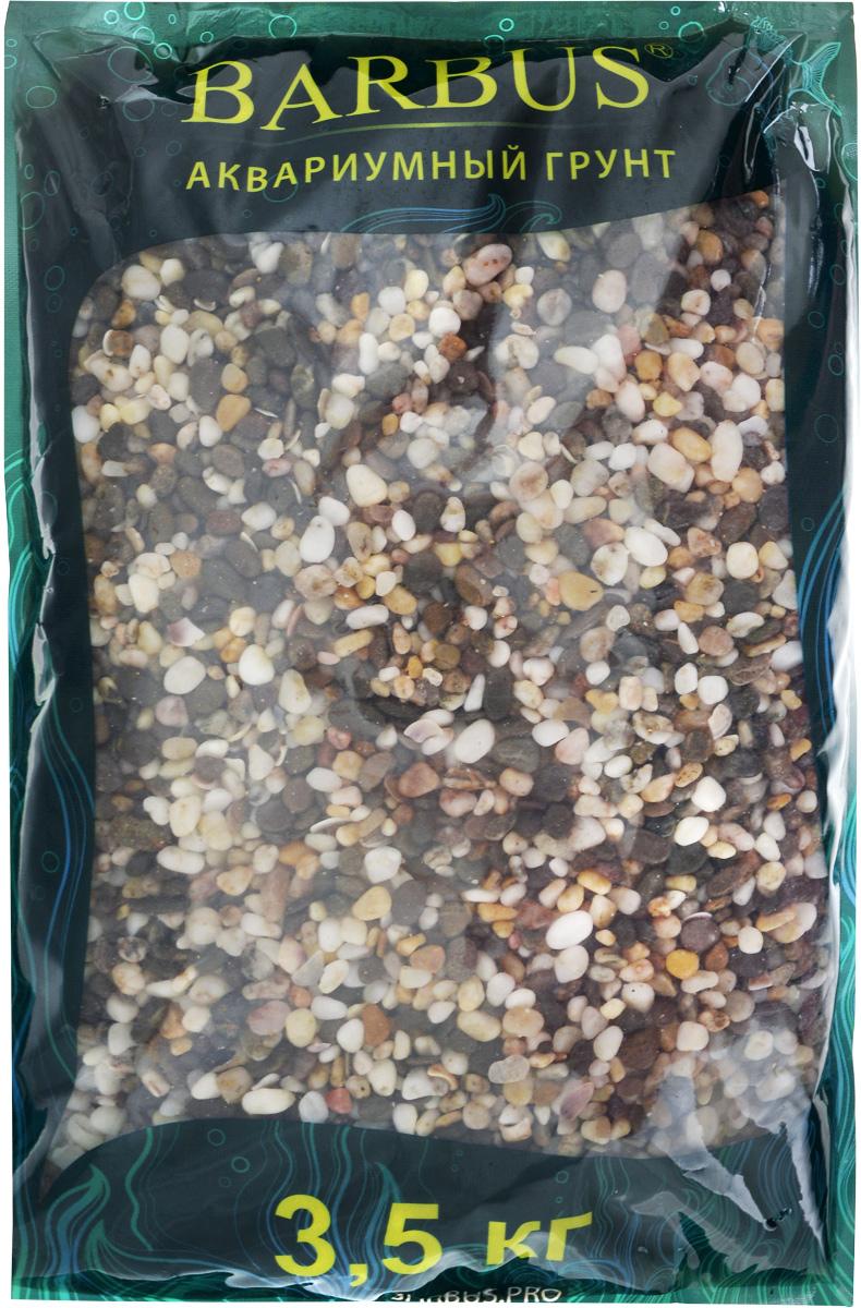 Грунт для аквариума Barbus Феодосия №1, натуральный, галька, 2-5 мм, 3,5 кг галька морская бежевая фракция 5 10 мм 1 кг