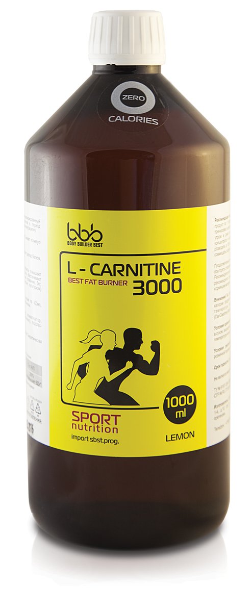 Карнитин bbb L-Carnitine 3000, лимон, 1 л карнитин vplab l carnitine concentrate концентрат лимон 1 л