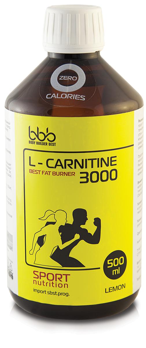 Карнитин bbb L-Carnitine 3000, лимон, 500 мл l карнитин sportexpert l carnitine яблоко 1800 мг 8 флаконов x 50 мл