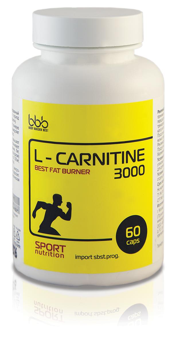 Карнитин bbb L-Carnitine 3000 Caps, 60 капсул молочные смеси kabrita 1 gold смесь на основе козьего молока 0 6 мес 400 г