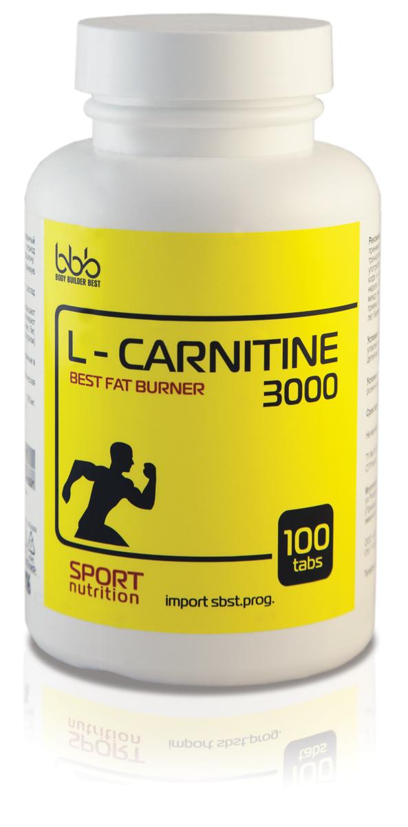 Карнитин bbb L-Carnitine 3000 Tabs, 100 таблеток105145L-Carnitine 3000 - специализированный пищевой продукт для питания спортсменов в период интенсивных тренировок, в дополнение к основному рациону. -Расщепляет жиры. -Уменьшает массу тела.-Снижает тканевую гипоксию. -Анаболический эффект L-карнитина замедляет распад белков, помогает формировать мышечный каркас. Антиоксидантные и антигипоксические эффекты повышают порог устойчивости к физическим нагрузкам, обеспечивают выносливость при занятиях как аэробными (плавание, бег, аэробика) так и анаэробными (пауэрлифтинг, культуризм) видами спорта. Рекомендации по применению: в дни тренировок принимать продукт по 1 таблетке 1 раз в день за 30 минут до тренировки; в свободные от тренировок дни продукт употреблять утром по 1 таблетке перед едой. Не совмещать с кофе и алкоголем. Продолжительность одного курса - 4 недели. Курсы можно повторять с перерывом в 2 недели между ними. Состав: L-карнитин 880 мг.Как повысить эффективность тренировок с помощью спортивного питания? Статья OZON Гид