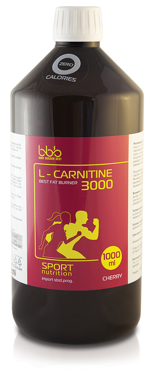 Карнитин bbb L-Carnitine 3000, вишня, 1 л l карнитин atech nutrition l carnitine concentrate 3000 вишня 500 мл
