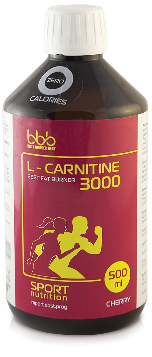 Карнитин bbb L-Carnitine 3000, вишня, 500 мл l карнитин sportexpert l carnitine яблоко 1800 мг 8 флаконов x 50 мл