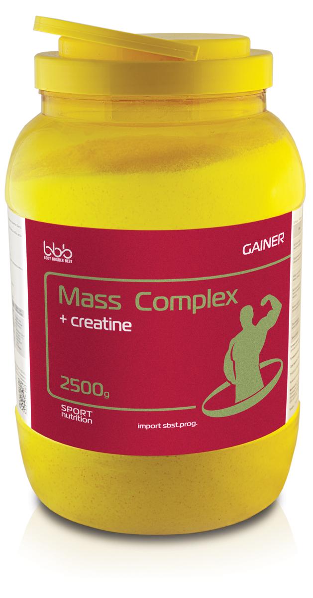 Гейнер bbb Mass Complex + Creatine, ваниль, 2,5 кг цена