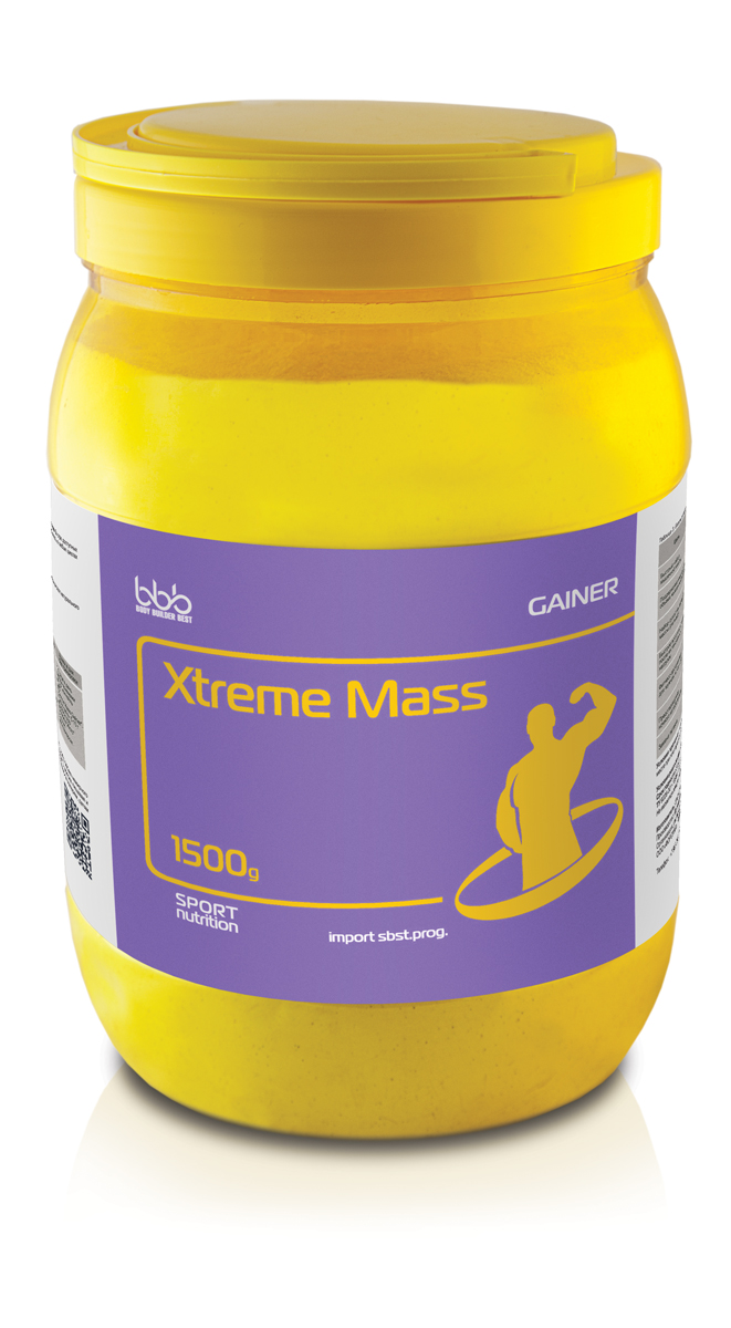 Гейнер bbb Xtreme Mass Gainer, клубника, 1,5 кг цена