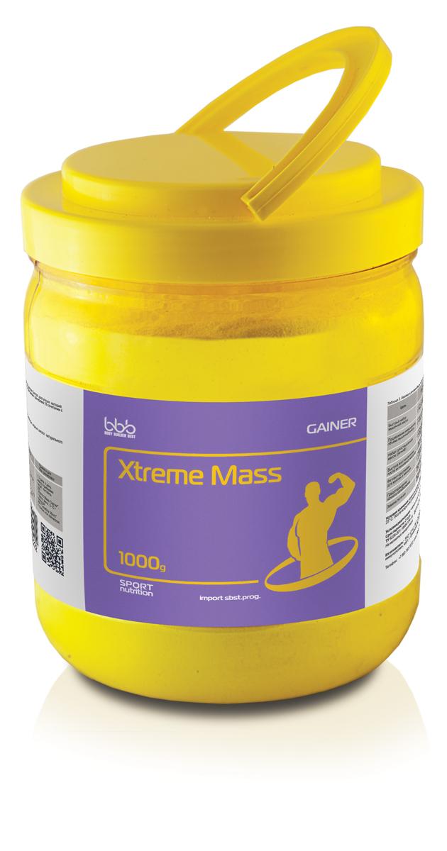 Гейнер bbb Xtreme Mass Gainer, клубника, 1 кг цена