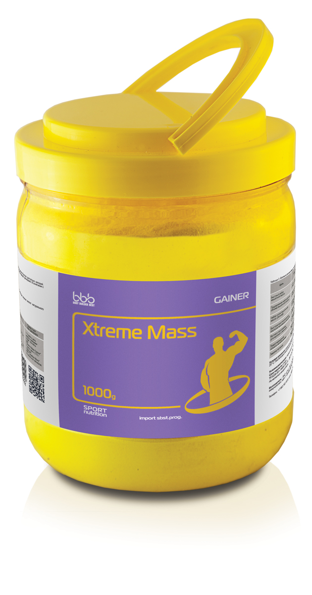 Гейнер bbb Xtreme Mass Gainer, ваниль, 1 кг цена
