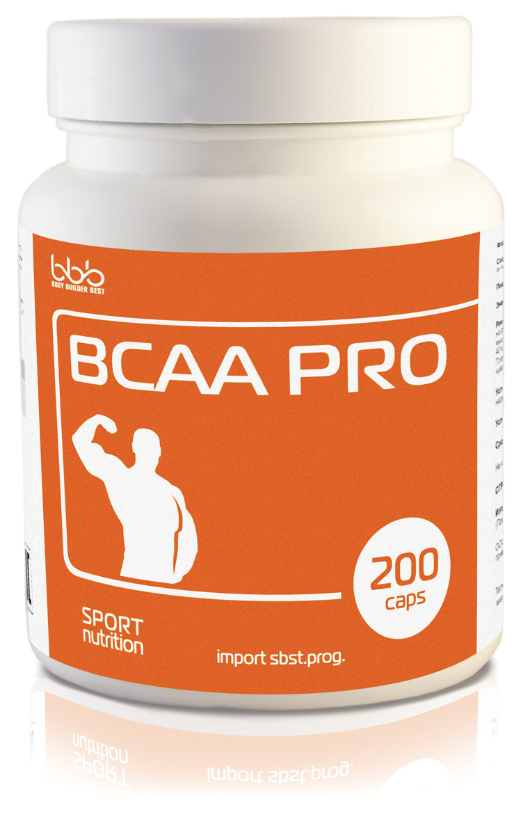 "Аминокислоты bbb ""BCAA Pro"", 200 капсул, bbb (BODY BUILDER BEST)"