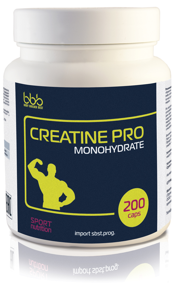 Креатиновый комплекс bbb Creatine Pro Caps, 200 капсул dymatize nutrition моногидрат креатина dymatize creatine micronized 500гр
