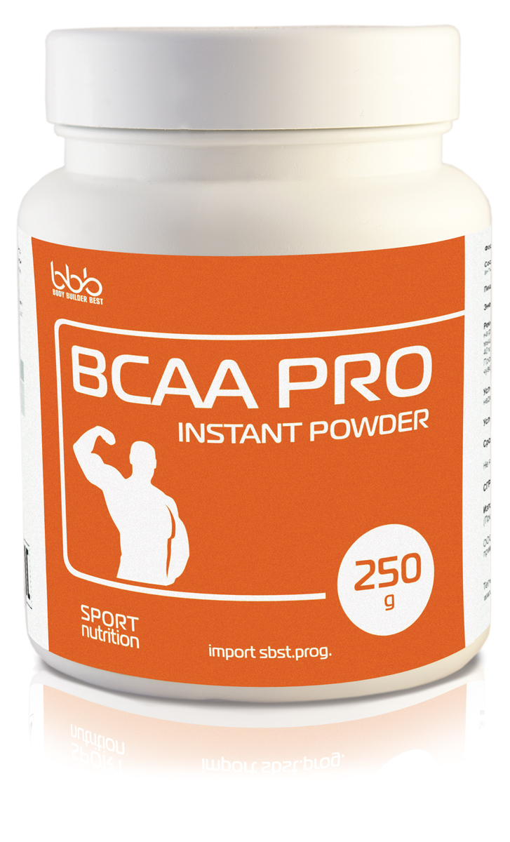 Аминокислоты bbb BCAA Pro Instant, 250 г105241Cпециализированный продукт для питания спортсменов в период интенсивных тренировок в дополнение к основному пищевому рациону. Является источником незаменимых аминокислот с разветвленными боковыми цепями, L-лейцина, L-валина, L-изолейцина, составляющих 35% всех мышечных аминокислот. Стимулирует синтез мышечного протеина; Подавляет катаболизм (разрушение мышечных волокон); Сокращает период восстановления после нагрузок; Подавляет аппетит; Стимулирует сжигание жиров.Хорошая растворимость порошка позволяет быстро готовить напиток для приема во время тренировок. Использовать в программах по набору мышечной массы, работы на рельеф и похудение. Оптимальная разовая доза bbb BCAA Pro составляет 5-6г. Порошок, разведенный водой с сахаром (для быстрого усвоения), лучше принимать по 1 порции (5г) 2 раза в сутки: за 30-40 минут до тренировки и во время тренировки.Состав: L-лейцин - 2,30 г, L-валин - 1,2 г, L-изолейцин - 1,0 г.Как повысить эффективность тренировок с помощью спортивного питания? Статья OZON Гид